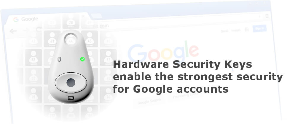Google Advanced Protection security keys for protecting Google accounts against phishing attacks
