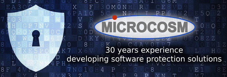 Microcosm software copy protection and licensing solutions for protecting software against piracy and hacking